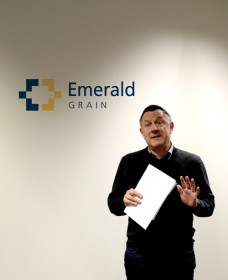Emerald CEO John Murray announcing the rebranding launch to staff.